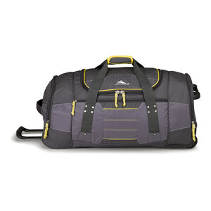 "Ultimate Access 2.0 30"" Wheeled Duffel in the color Mercury/Charcoal/Yell-O."