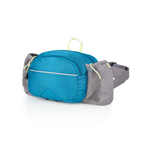 HydraHike Waist Pack With Bottles in the color Lagoon/Slate/Zest.