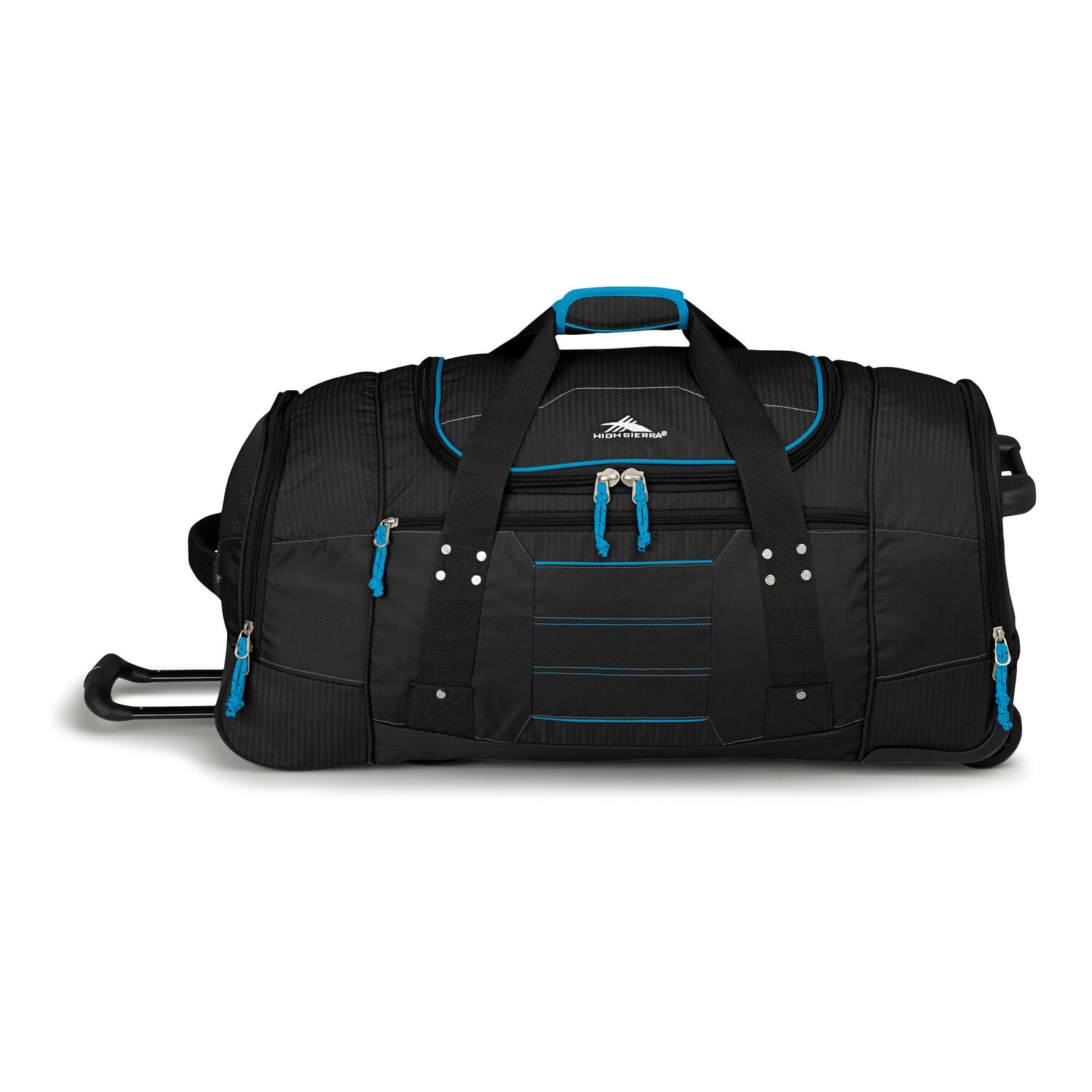 High Sierra Ultimate Access 2.0 30 quot  Wheeled Duffel in the color  Black Blueprint. bfbacc894dc75