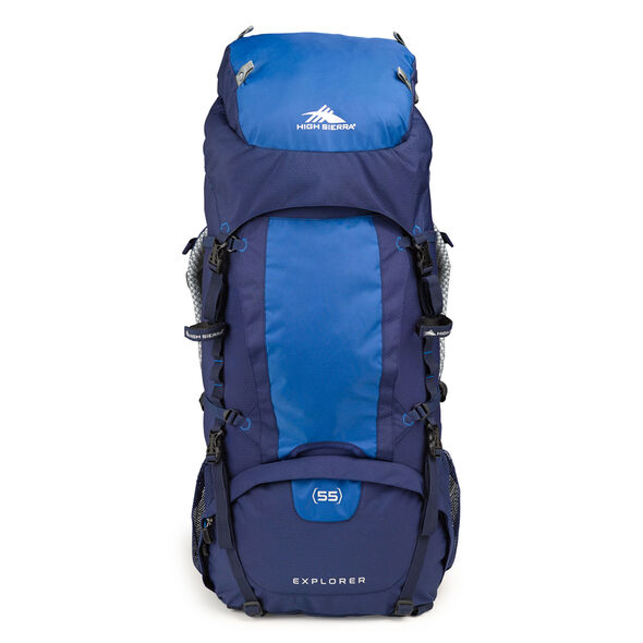 High Sierra Classic 2 Series Explorer 55 Frame Pack in the color True Navy/Royal.
