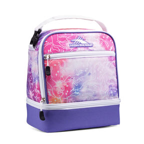 High Sierra Stacked Compartment Lunch Bag in the color Unicorn Clouds/Lavender/White.