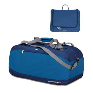"High Sierra Pack-N-Go 36"" Duffel in the color Pacific/Blue Velvet."