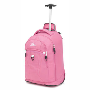 High Sierra Drydin Wheeled Backpack in the color Pink Lemonade/White.