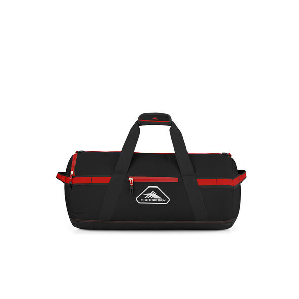 """High Sierra Packed Cargo Duffles 24"""" Small Duffel in the color Black/Crimson Red."""