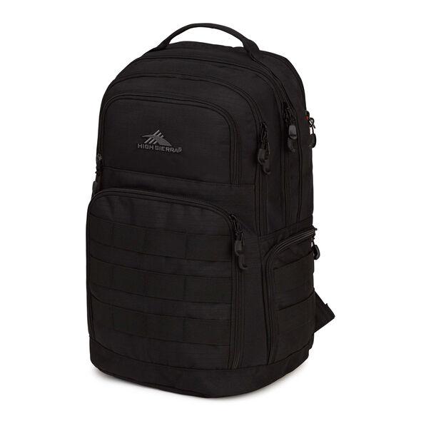 High Sierra Rownan Backpack in the color Black.