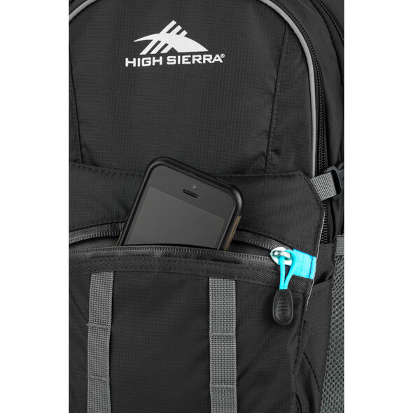 High Sierra HydraHike 20L Pack in the color Black/Slate/Pool.