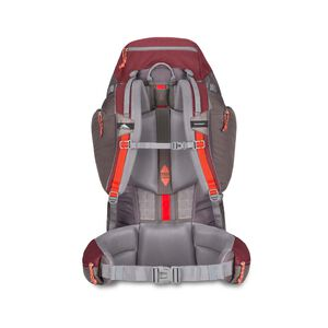 Pathway 70L Pack in the color Cranberry/Slate/Redrock.