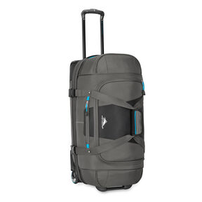 "High Sierra Selway 28"" Drop-Bottom Wheeled Duffel in the color Mercury/Black/Pool."