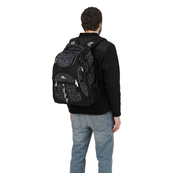 High Sierra Access Backpack in the color Speckle/Black.