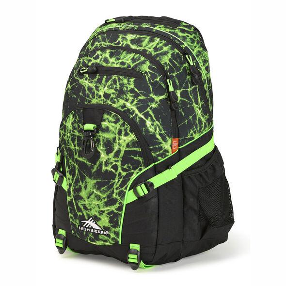 High Sierra Loop Backpack in the color Lime Fire/Black/Lime.