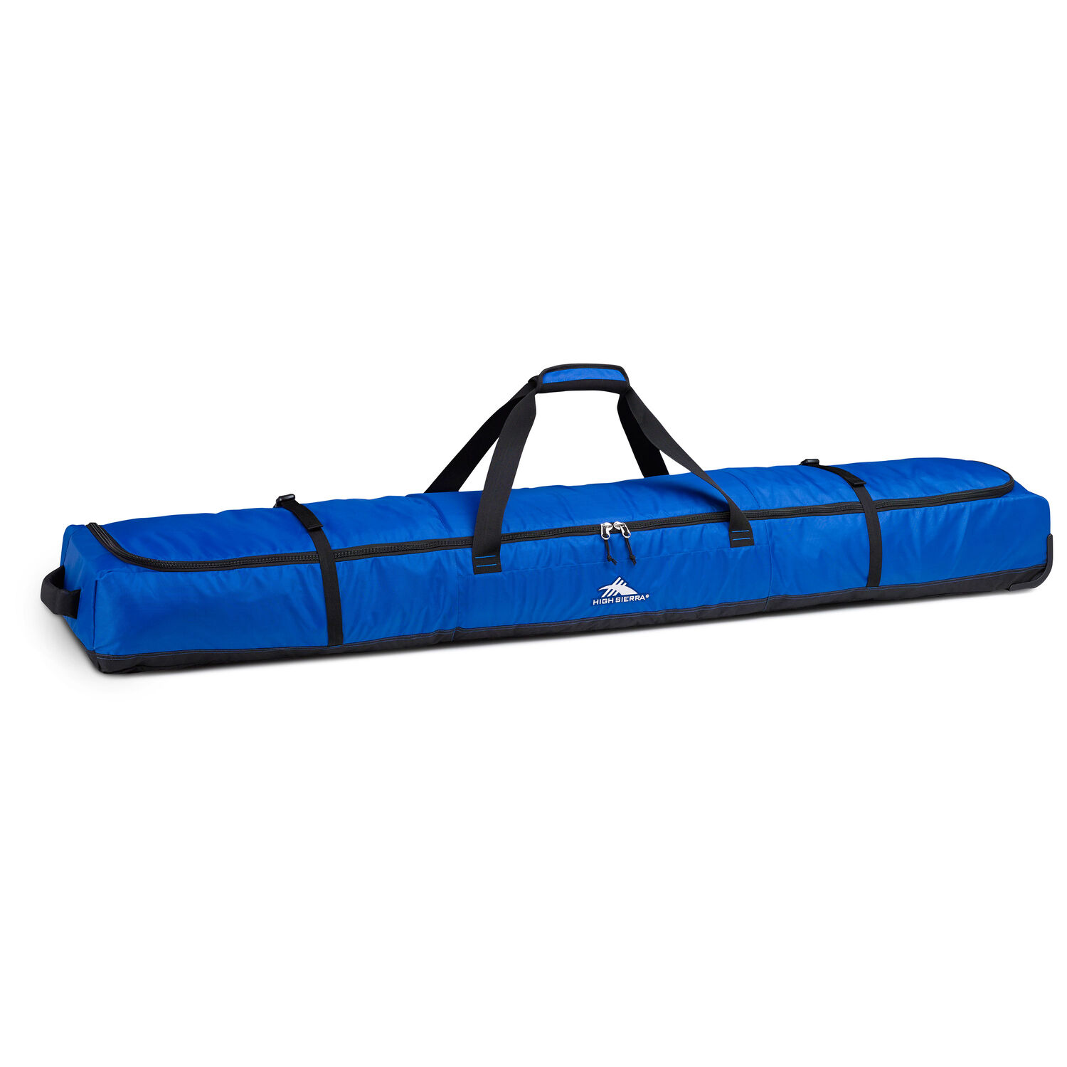 64d957eac High Sierra Deluxe Wheeled Double Ski Bag in the color Vivid Blue/Black.