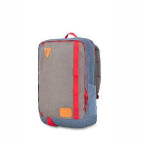 High Sierra HS78 Square Backpack in the color Dusty Blue/Slate/Crimson.