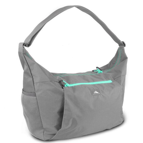 High Sierra Pack-N-Go 2 26L Yoga Sport Duffel in the color Charcoal/Aquamarine.