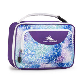 High Sierra Lunch Packs Single Compartment in the color Flower Daze/Deep Purple/White.