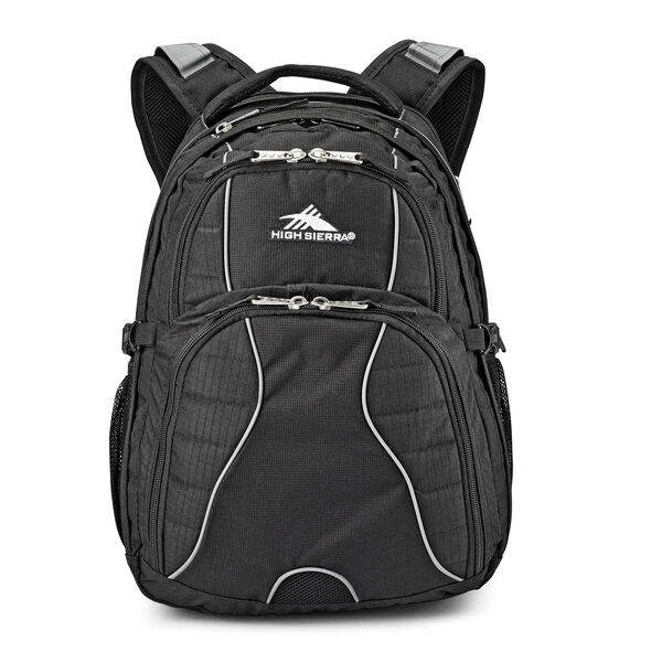 High Sierra Swerve Backpack in the color Black.
