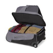 High Sierra Prime Access Carry On Wheeled Backpack in the color Charcoal/Mercury/Sunflower.