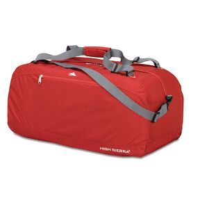 "High Sierra 36"" Pack-N-Go Duffel in the color Carmine Red."