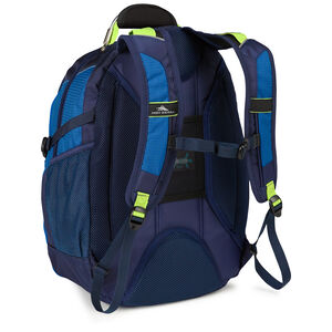 XBT Daypack in the color Navy/Cobalt/Chartreuse.