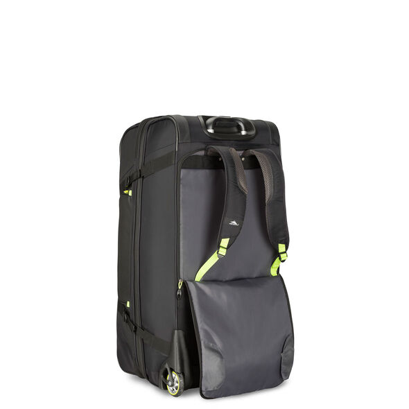"High Sierra AT8 32"" Wheeled Duffel Upright in the color Black Zest."