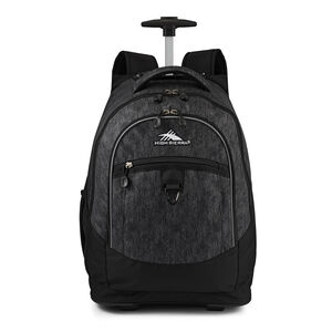 Chaser Wheeled Backpack in the color Black Texture.