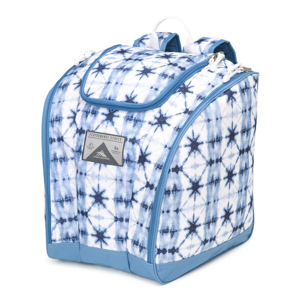 High Sierra Trapezoid Boot Bag in the color Indio Dye/Mineral/White.