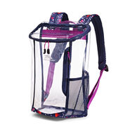 High Sierra Clear Toploader Backpack in the color Triangle Party.