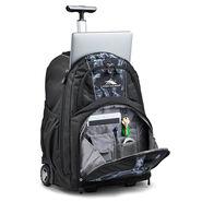 High Sierra Freewheel Wheeled Backpack in the color Black Steam/Black.