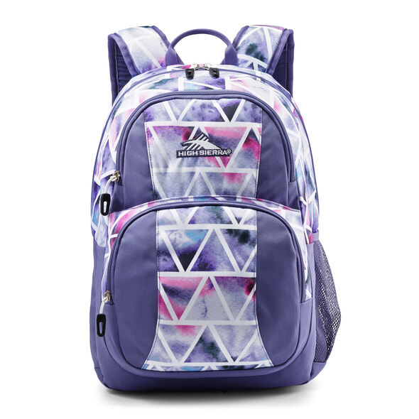 High Sierra Pinova Backpack in the color Dreamscape/Purple Smoke.
