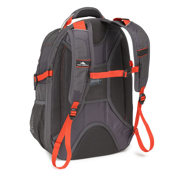 High Sierra XBT TSA Backpack in the color Mercury Crimson.
