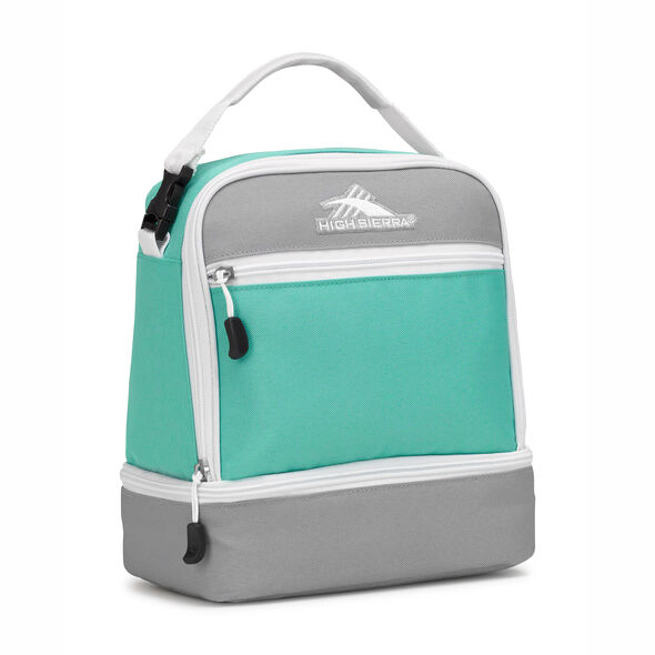 High Sierra Stacked Compartment Lunch Bag in the color Aquamarine/Ash/White.