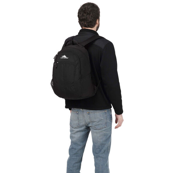 High Sierra Curve Backpack in the color Black.