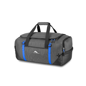 High Sierra Decatur Convertible Travel Duffel Backpack in the color Mercury/Vivid Blue.