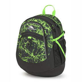 High Sierra Fatboy Backpack in the color Lime Fire/Black/Lime.