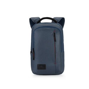 Business Slim Backpack in the color Rustic Blue Heather/Chili Pepper.