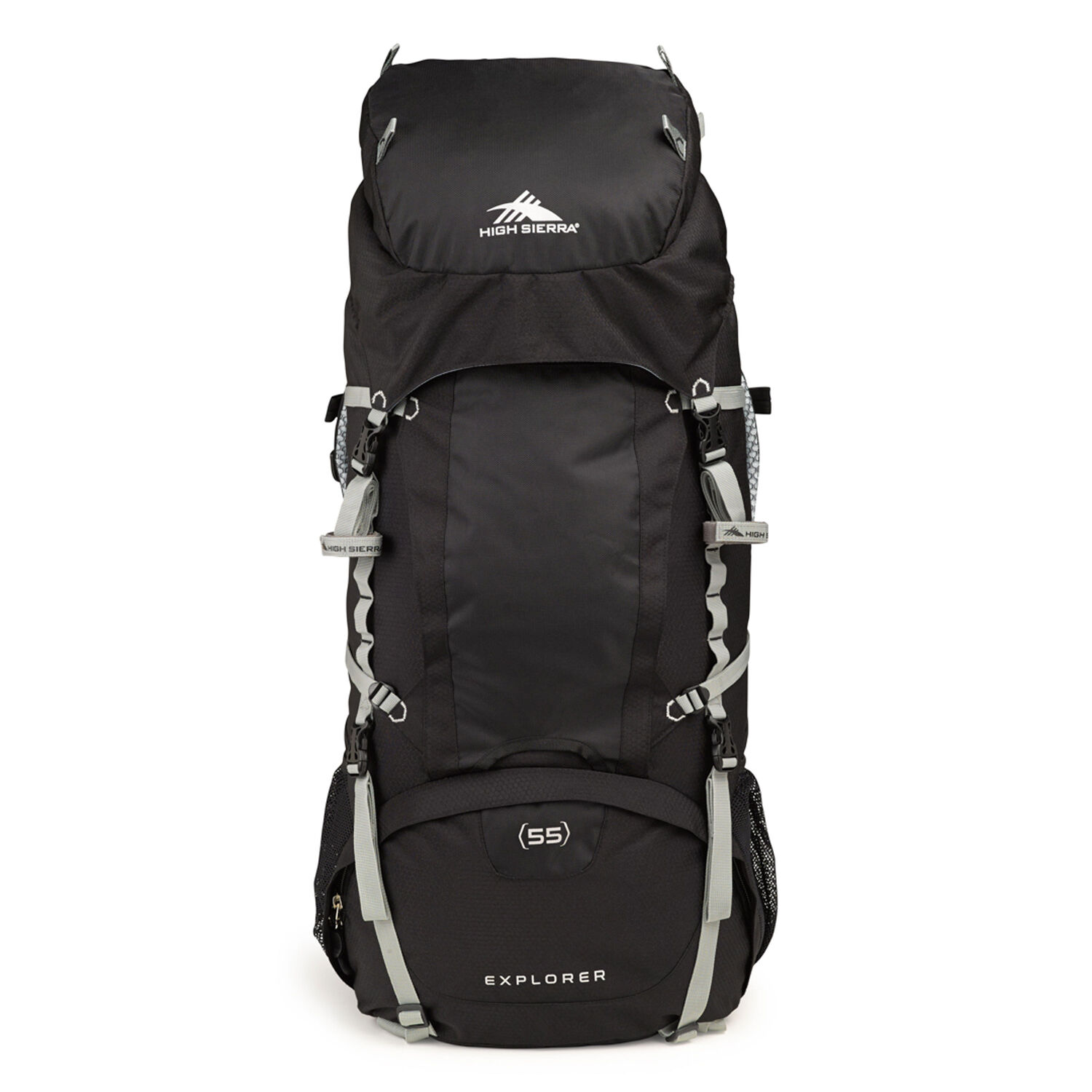 181912982 High Sierra Classic 2 Series Explorer 55 Frame Pack in the color  Black/Silver.