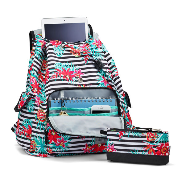 High Sierra Elly Backpack in the color Tropical Stripe/Black.