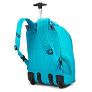 High Sierra Chaser Wheeled Backpack in the color Bluebird.