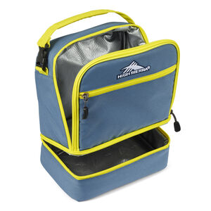 Stacked Compartment Lunch Bag in the color Graphite Blue/Glow.