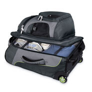 """High Sierra AT3 22"""" Wheeled Backpack in the color Graphite/Titanium/Spring."""