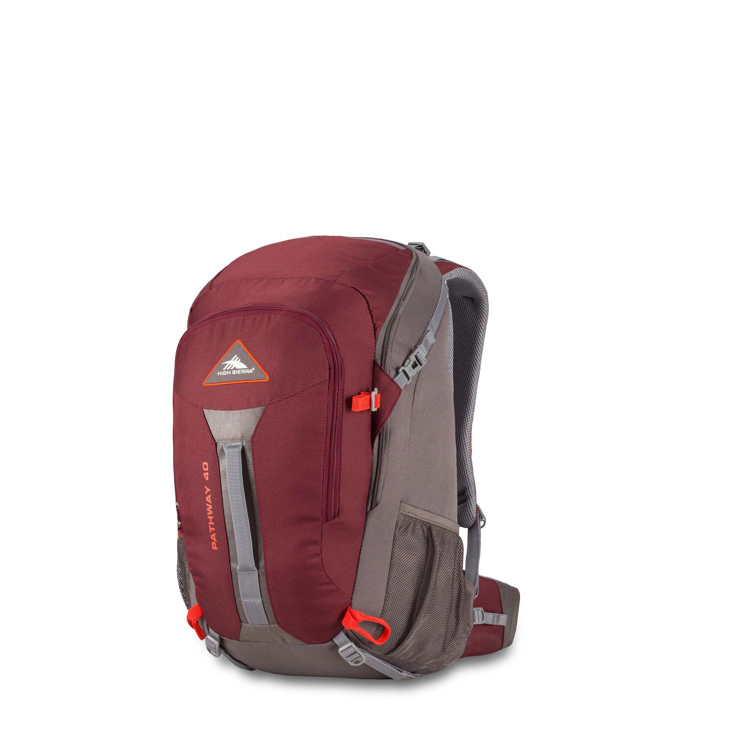59bd5fb1df1 High Sierra Pathway 40L Pack in the color Cranberry/Slate/Redrock.
