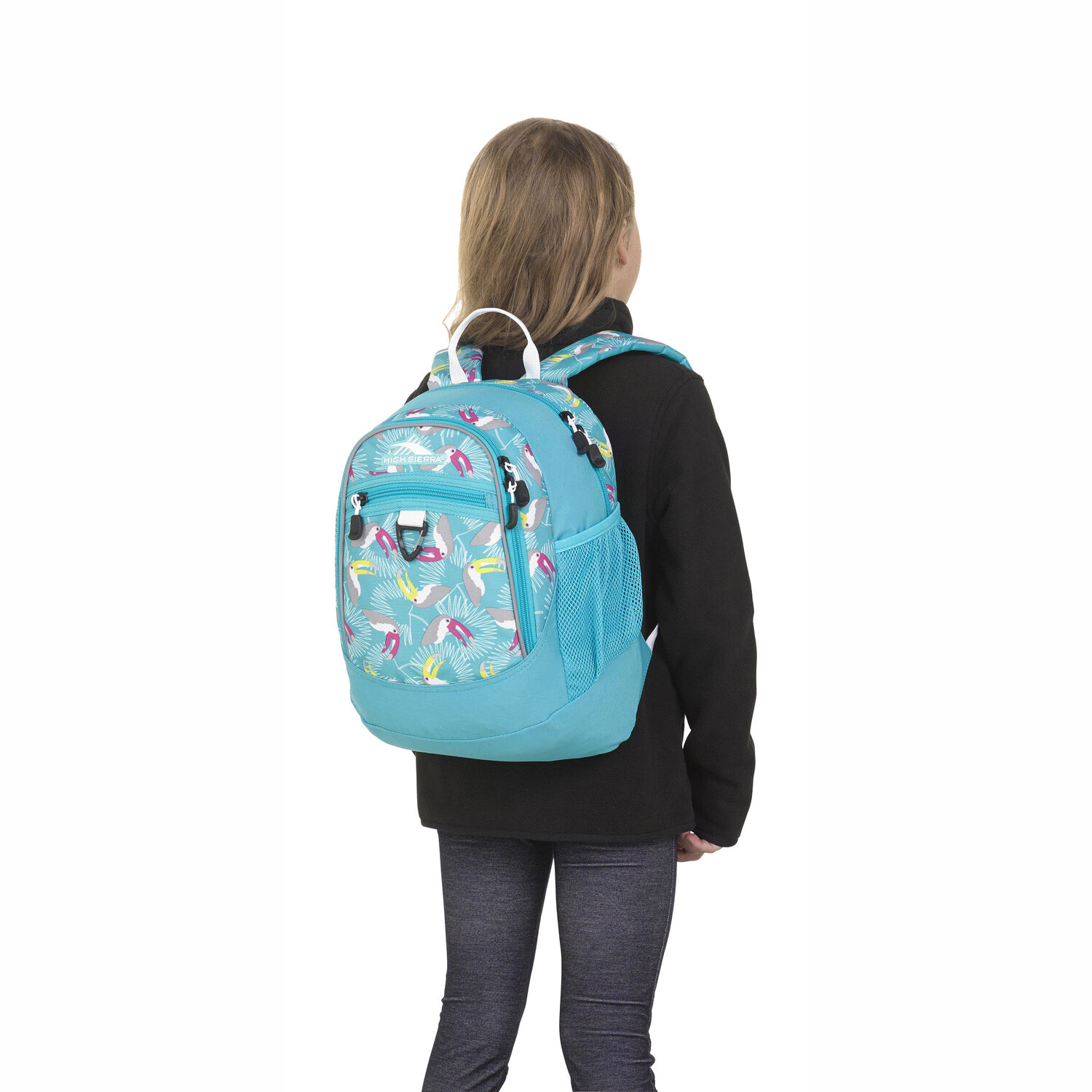 678cb83f1 High Sierra Mini Fatboy Backpack in the color Toucan/Tropic Teal/White.