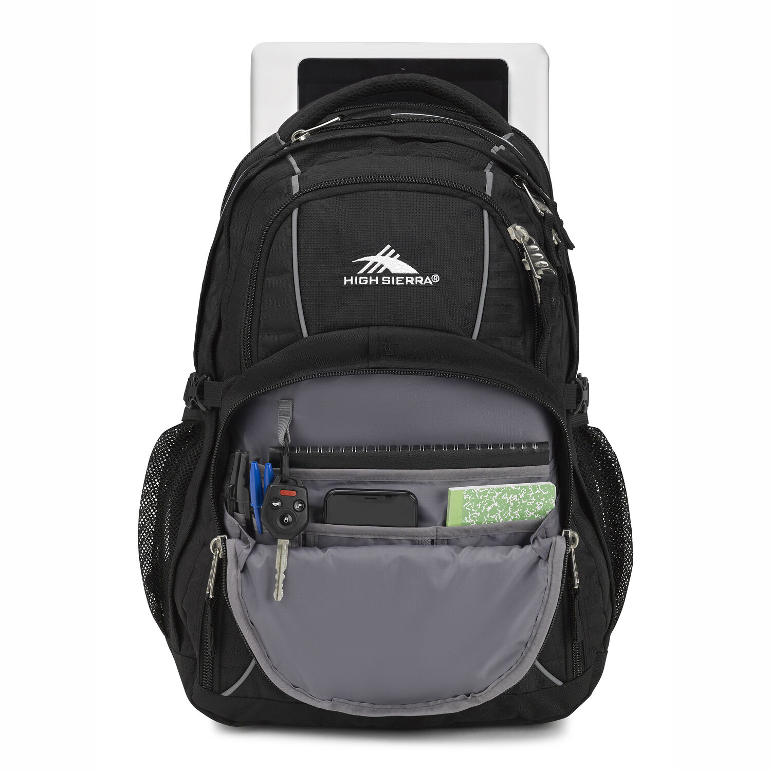 43e87315aba High Sierra Swerve Backpack in the color Black.