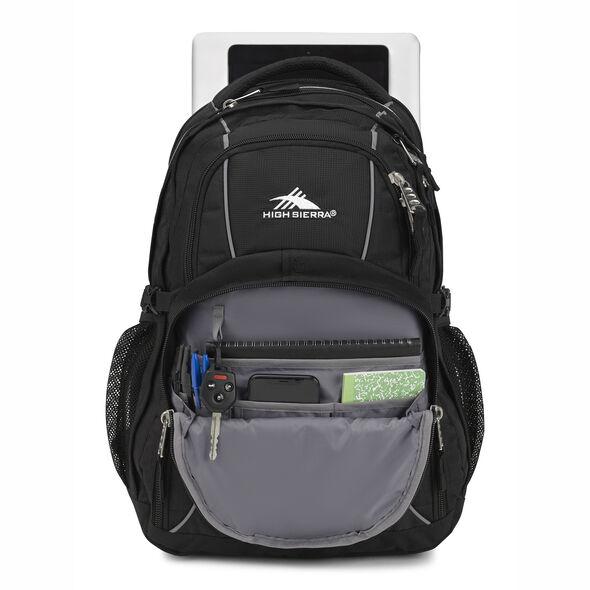 High Sierra Swerve Backpack in the color Black.