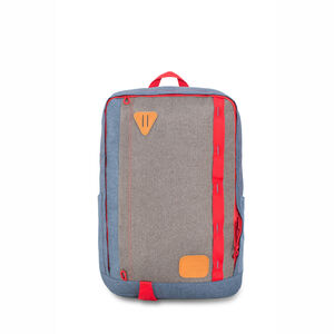 HS78 Square Backpack in the color Dusty Blue/Slate/Crimson.
