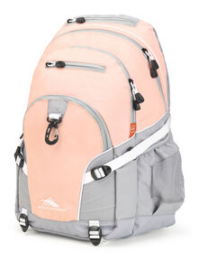 High Sierra Loop Backpack in the color Sand Pink/Ash/White.