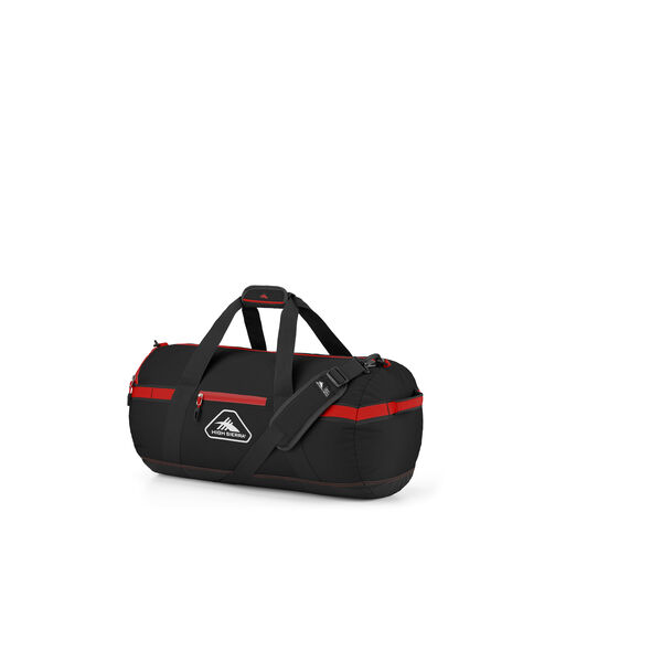 "High Sierra Packed Cargo Duffles 20"" X-Small Duffel in the color Black/Crimson Red."