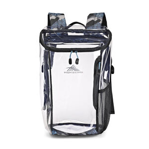 Clear Toploader Backpack in the color Graffiti.