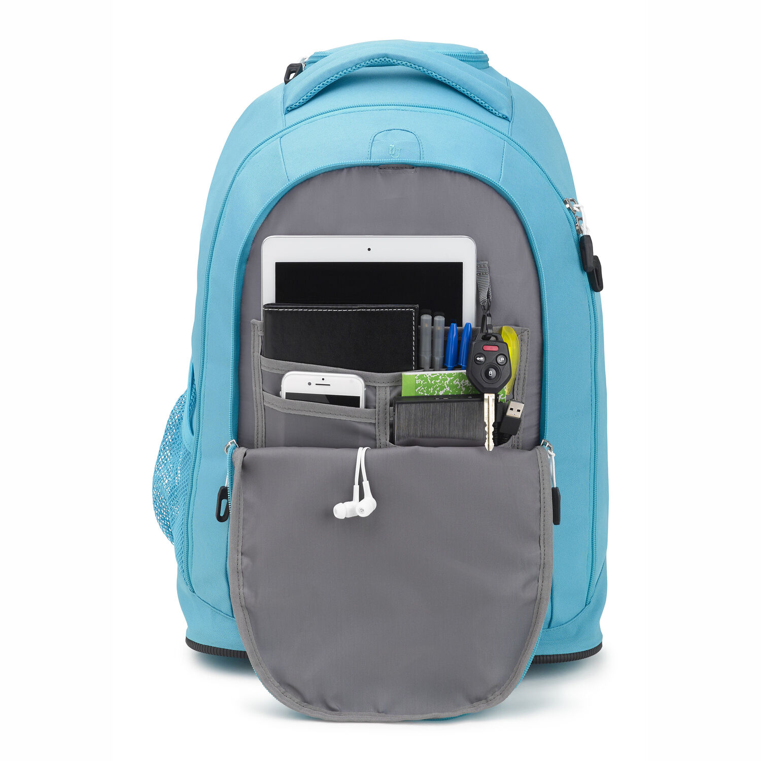 eac2a1feeb4 High Sierra Drydin Wheeled Backpack in the color Tropic Teal White.