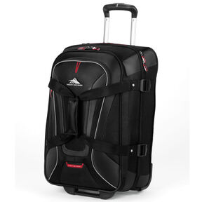 High Sierra AT7 Carry-On Wheeled Duffel in the color Black.