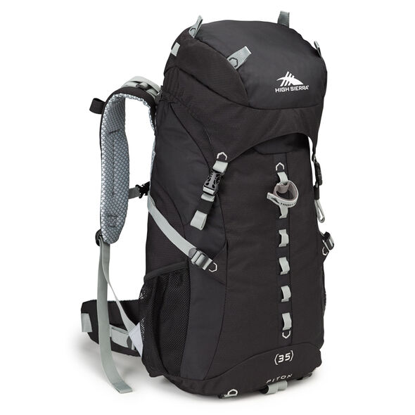 High Sierra Classic 2 Series Piton 35 Frame Pack in the color Black/Silver.